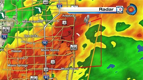 Weather In Hialeah Gardens by Tornado In Effect For Broward Miami Dade Until 6 A M