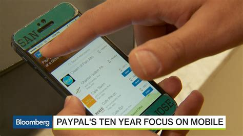 mobile transactions paypal s push for mobile transactions bloomberg