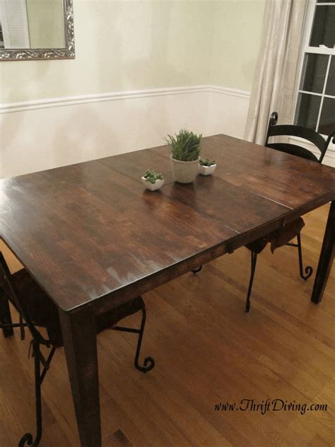 Diy Dining Room Table Makeover Colossal Diy Fail Or Rustic Dining Room Table Makeover Thrift Diving