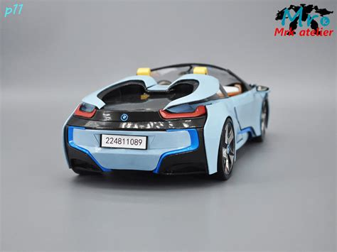 magnificent transformable bmw i8 paper model