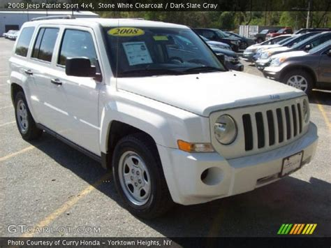 white jeep patriot 2008 white clearcoat 2008 jeep patriot sport 4x4 with