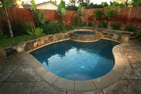 Backyard Landscaping Ideas Around A Pool Inground Swimming Pool Designs Ideas