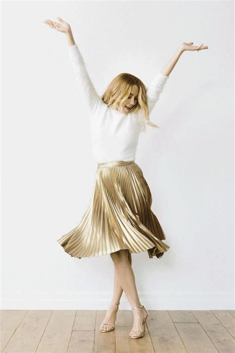 Dress Wedges Flow Gold 1000 ideas about metallic skirt on tweed