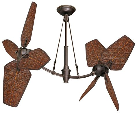 wicker ceiling fan blades emerson b82art 22 quot all weather aged rattan ceiling fan