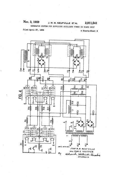 patent us2911541 generator system for supplying