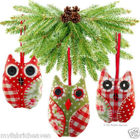 owl christmas tree decoration ornament fabric sewing