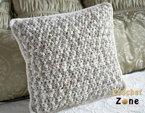 Crochet Pillow Patterns For Beginners by Neutral Crochet Pillow Pattern Allfreecrochet