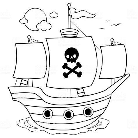 dessin bateau noir bateau de pirate noir et blanc livre de coloriage
