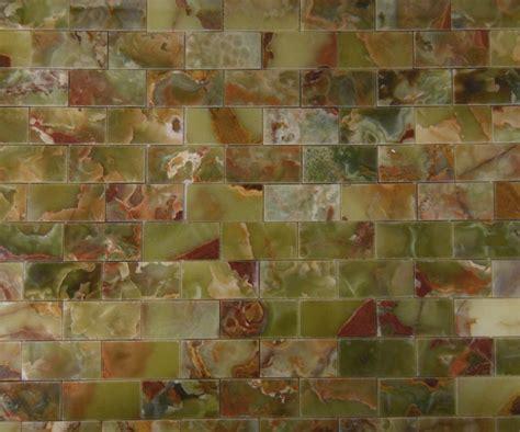 green onyx tile backsplash green onyx 3 in x 6 in mosaic polished mesh mounted