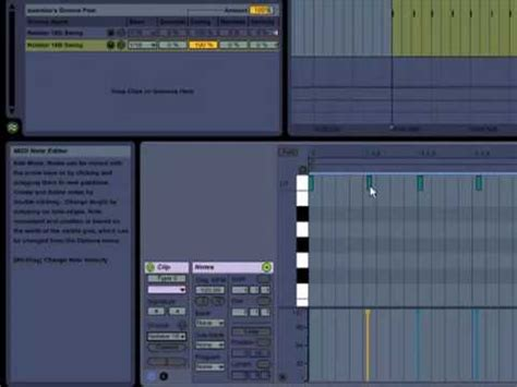 how to add swing in ableton ableton live 8 groove quantize tutorial synthtopia