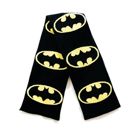 knitting pattern batman scarf batman knitted scarf with batman logos for only 163 18 43