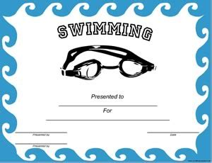 swimming certificate templates free swimming diving certificates 183 certificate creator