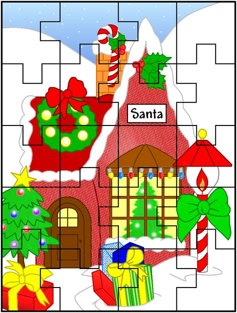 printable christmas jigsaw puzzles free printable christmas jigsaw puzzles great for kids