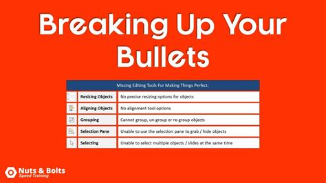 powerpoint tutorial bullet points powerpoint trick breaking bullet points into layouts