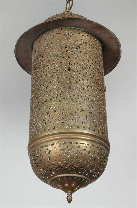 Moroccan Chandeliers Moroccan Lighting Fixtures Vintage Moroccan Brass Filigree Pendant Light Fixture At 1stdibs