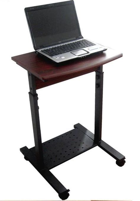 Cuzzi S2015 20 Quot Narrow Mini Laptop Desk Sit Stand Mini Computer Desk