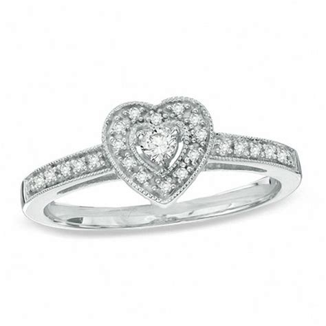 1 6 ct t w vintage style promise ring in