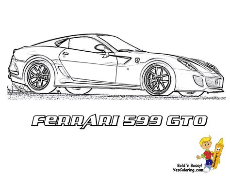 workhorse ferrari coloring pages ferrari free car
