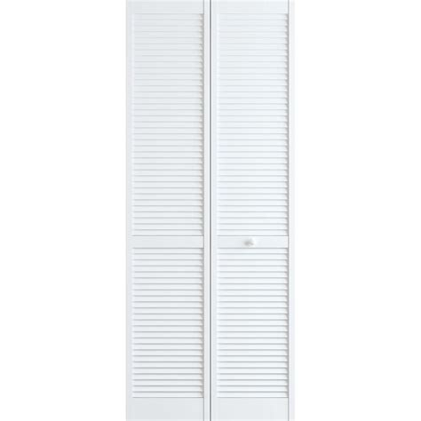 home depot louvered doors interior frameport 30 in x 80 in louver pine white interior closet bi fold door 3115003 the home depot