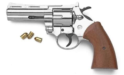 Army 45 Revolver Blank Firing 9mm nickel or blued finish magnum blank firing revolver