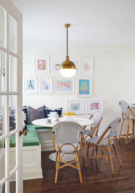 Amie Corley Interiors by L Shaped Banquette Transitional Dining Room Amie Corley Interiors