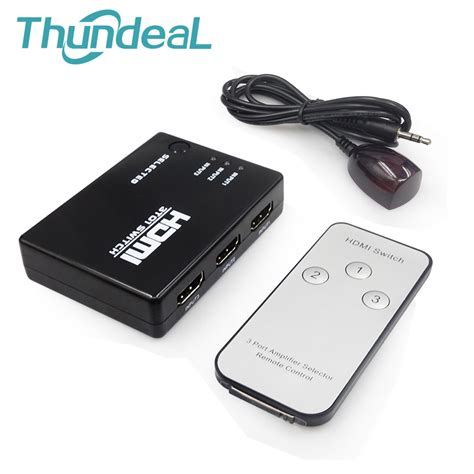 Special Edition Kabel Hdmi To Hdmi V 1 3 G017 thundeal hdmi switcher 3 5 input to 1 out 1080p switch hdmi ir remote for ps3 xbox hdtv