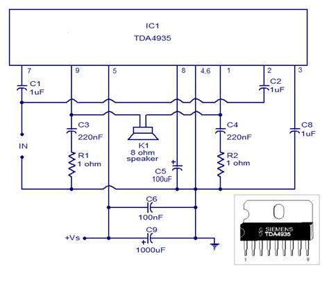 simple stereo lifier circuit diagram tda4935 bridge lifier circuit simple schematic diagram