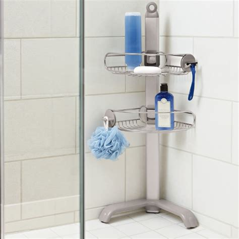 Corner Shower Caddy Stainless Steel by Simplehuman Stainless Steel Aluminium Corner Shower Storage Soap Caddy Bt1064 Ebay