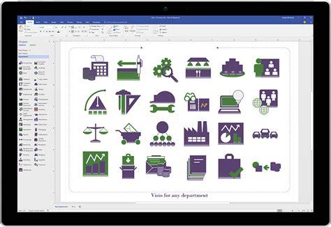 create visio shape visio standard 2016 flow chart software visio
