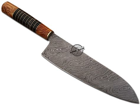 Handcrafted Kitchen Knives by Damascus Chef Knife Custom Handmade Damascus Steel Kitchen