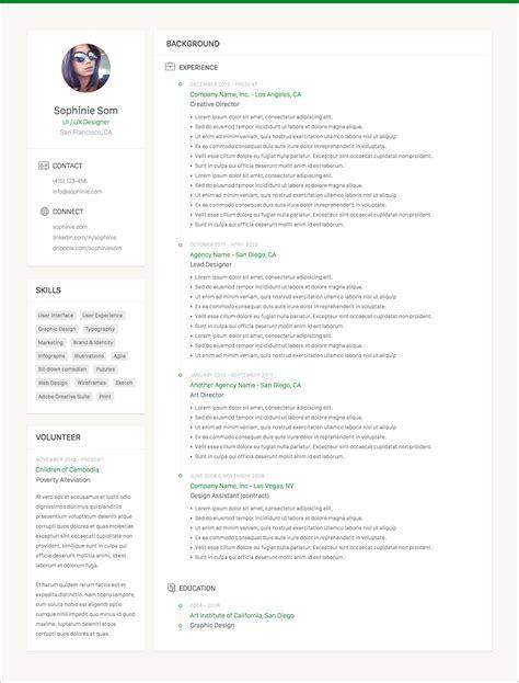 Sketch App Resume Template Clean Resume Template Sketch Resource For Sketch Image
