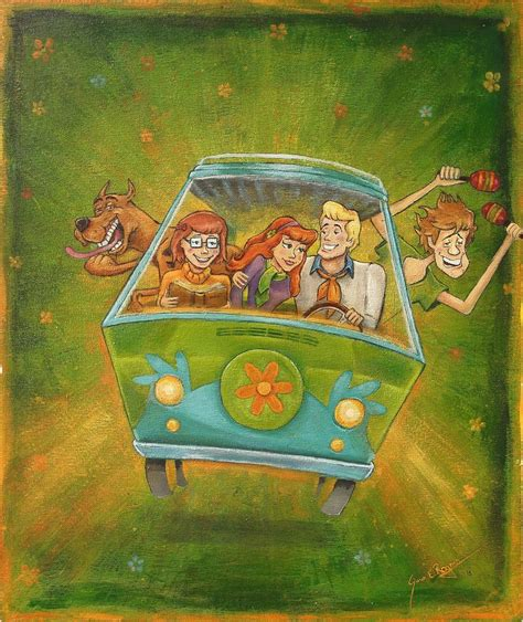 Kaos Scooby Doo Paint scooby doo by caricatureart on deviantart