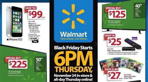Walmart 300 Gift Card Black Friday - walmart black friday 2016 ad includes mobiles and 300 50 inch 4k tvs phonesreviews