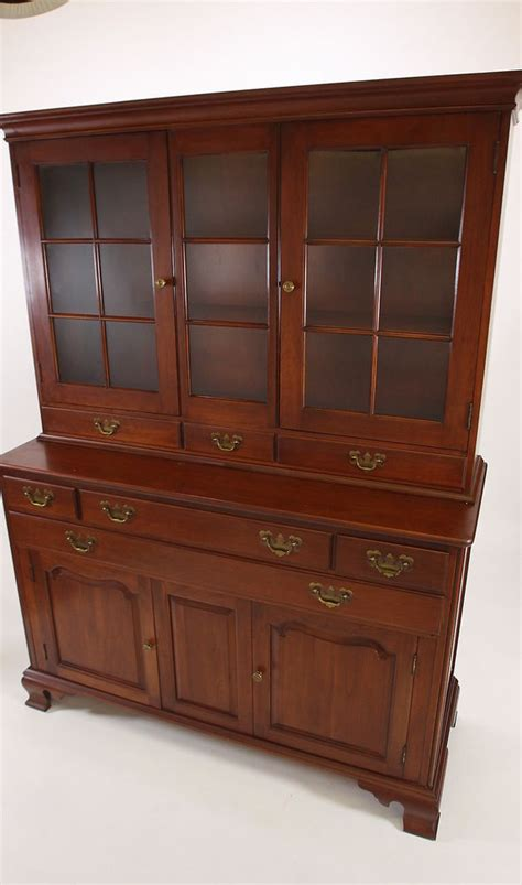 willett wildwood solid cherry china cabinet hutch 2 piece