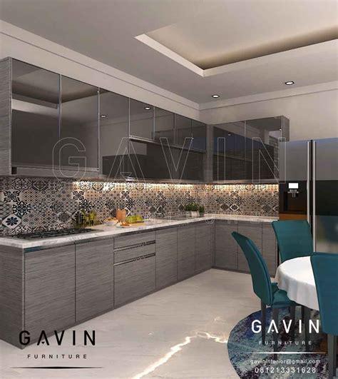 Cermin Grey lemari dapur kitchen set minimalis lemari pakaian