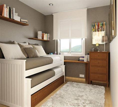 maximize space small bedroom decorate a small bedroom with two beds interior design