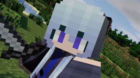 minecraft anime girl wallpaper hagane miku minecraft skin wallpaper 3 by animegirlmeow
