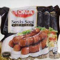 yona sosis sapi bakar belanja   fahreza frozen food
