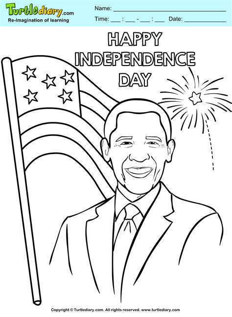 independence day coloring pages printable happy independence day coloring page turtle diary