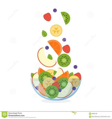 slices of design salad bowl by bosa stylepark fruit salad with ingredients flying in the air stock