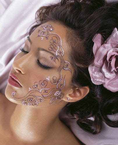 face henna tattoo paint makeup drama beautiful