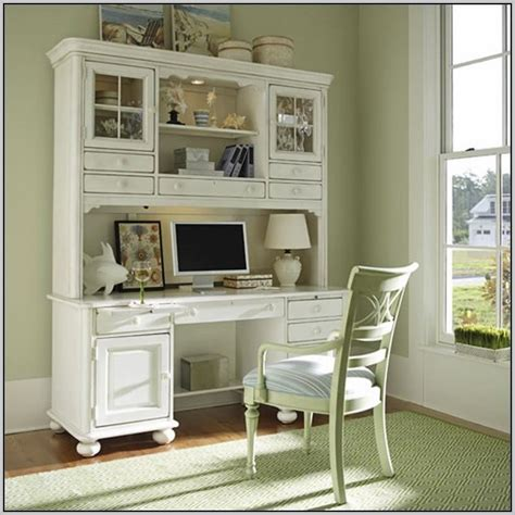 antique white computer desk with hutch desk home