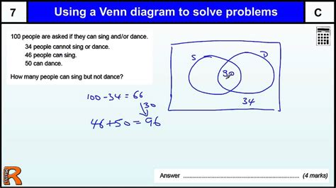 venn diagram statistics problems venn diagram to solve problems gcse maths revision paper practice