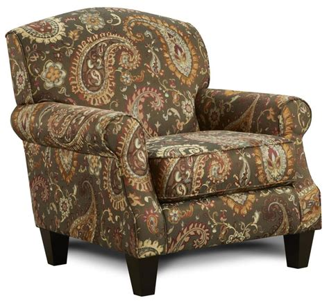 Fusion Upholstery by Fusion Furniture 532 Accent Chair With Rolled Arms