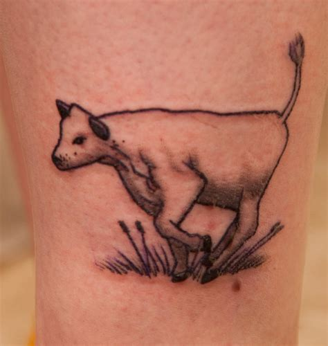 cow tattoos black ink cow design for sleeve
