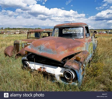 Rostiges Auto by Cars Car Cemetery Utah Usa Stock Photo Royalty