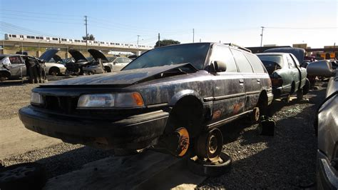 toyota car yard junkyard find 1988 toyota camry wagon with five speed