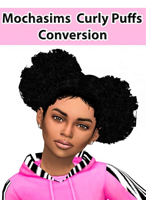 curly afro puff mochasims ebonixsimblr mochasims curly afro puff