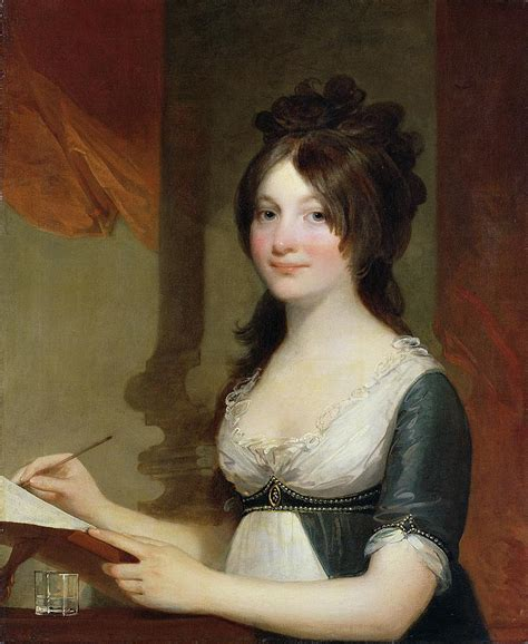 Theodosia Bartow Prevost by Portrait Of A Young Woman Painting By Gilbert Stuart