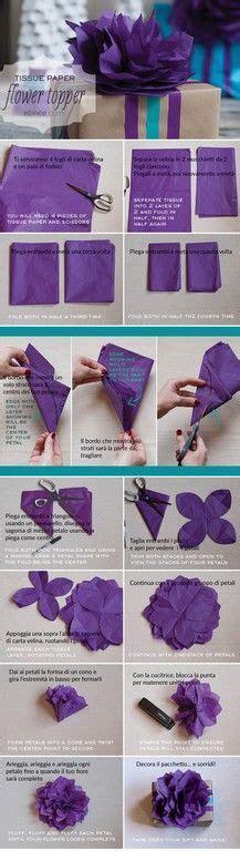 fiori di carta velina istruzioni oltre 25 fantastiche idee su fare fiori su